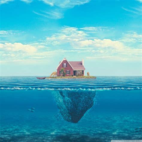 House On The Ocean 4k Hd Desktop Wallpaper For 4k Ultra Hd