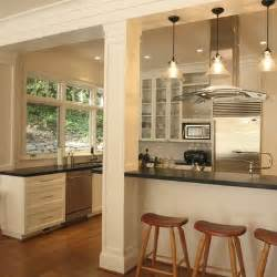 kitchen island with posts add a column and extend the counter out push the end