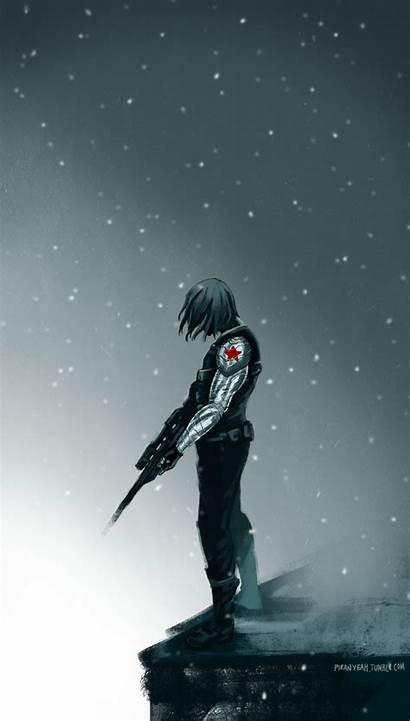 Soldier Bucky Winter Barnes Marvel Wallpapers America