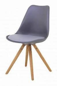 Chaise Scandinave Grise : chaise scandinave grise pied en compas cross chaises ~ Melissatoandfro.com Idées de Décoration