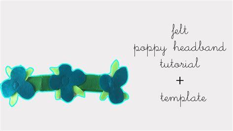 Troll Poppy Headband Template by How To Make A Felt Trolls Poppy Headband Tutorial Diy