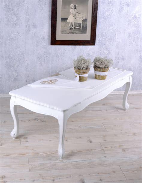 Shabby chic überrascht mit farben & formen. Wohnzimmertisch Weiss Tisch Landhaus Couchtisch Shabby ...