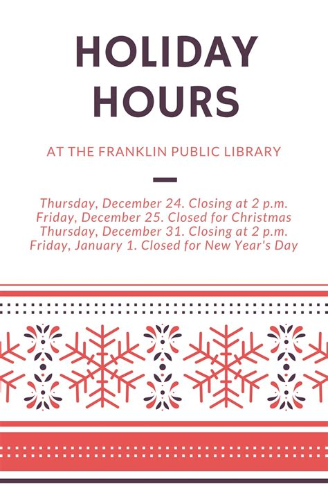 franklin matters franklin public library holiday hours