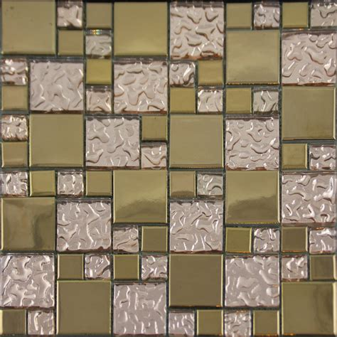 mosaic tiles for kitchen wall gold porcelain tile designs bathroom wall copper glass 9301