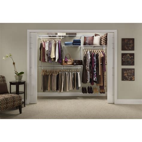 Closet Organization Kit by Closetmaid Shelftrack Adjustable Closet Organizer Kit