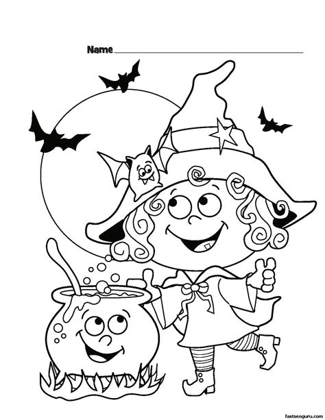 halloween witch coloring pages getcoloringpagescom