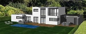 Maison Moderne Toit Plat : cuisine avant projet pour maison contemporaine avec toit ~ Nature-et-papiers.com Idées de Décoration
