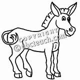 Mule Coloring Clip Cartoon Abcteach sketch template