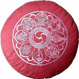 Symbole Für Glück : meditationskissen yogistick 8 symbole f r gl ck meditationskissen pinterest ~ Udekor.club Haus und Dekorationen