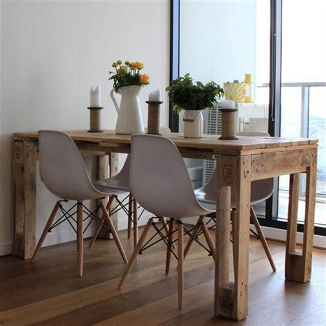 table cuisine palette rustic style pallet dining table pallet furniture diy