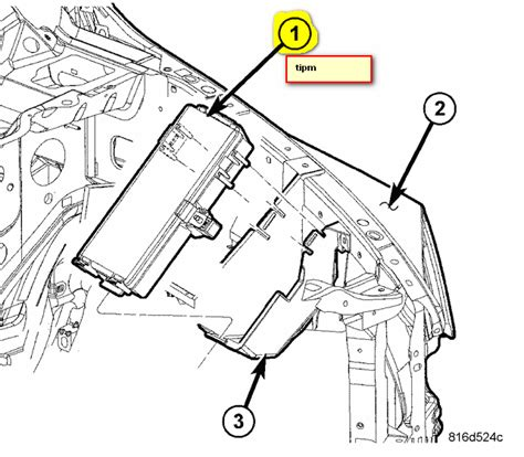 Ac Wiring Diagram 97 Dodge Ram Up by How Do You Remove The Tipm On A 2006 Dodge Ram 1500 Slt