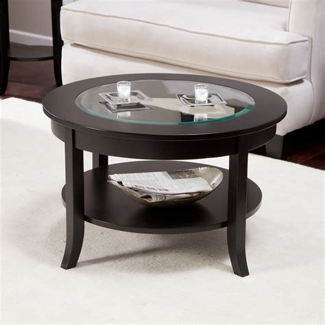 circle coffee table glass coffee table