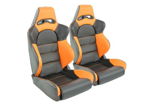 orange siege tuning shop siege baquet set edition 1 1xgauche 1xdroit