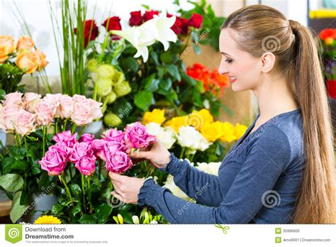 Beck S Flower Shop Gardens florist in flower shop stock photo image 30996600