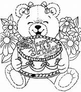 Coloring Birthdays Children Pages Simple sketch template