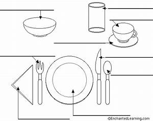Label The Place Setting In English Printout