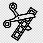 Editing Clipart Film Editor Clip Cut Icon
