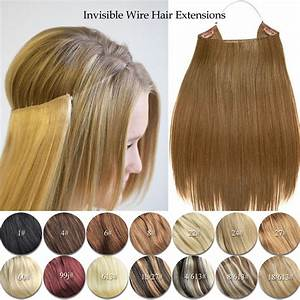 Elastic Invisible Wire Hair Extensions Halo Style Remy Human Hair Extension