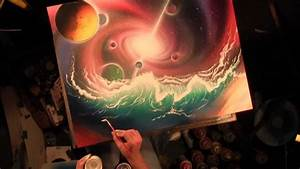 Hydraverse, waves in space. Universe and planets spray ...