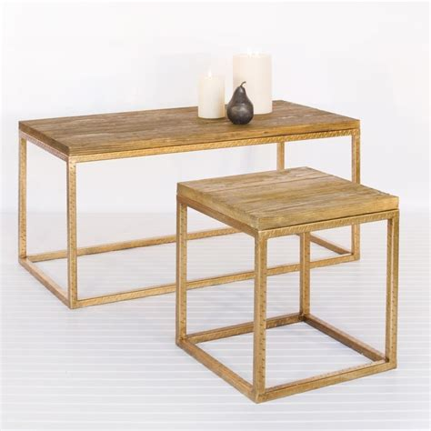 gold and wood coffee table worlds away wood top and gold leaf coffee table