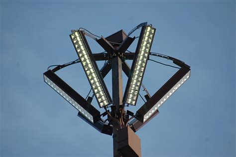 led light design awesome led parking lot pole lights