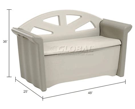 Rubbermaid Patio Storage Bench 3764 by Bins Totes Containers Containers Deck Boxes