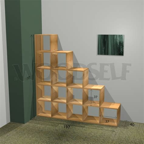 stair bookcase woodself  plans  woodworking