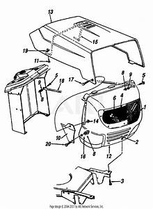 Mtd 13al452f120  1997  Parts Diagram For Hood And Grille