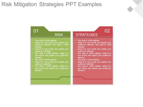 Risk Mitigation Strategies Ppt Examples Template