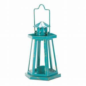 Aqua Lighthouse Mini Lantern Wholesale at Eastwind