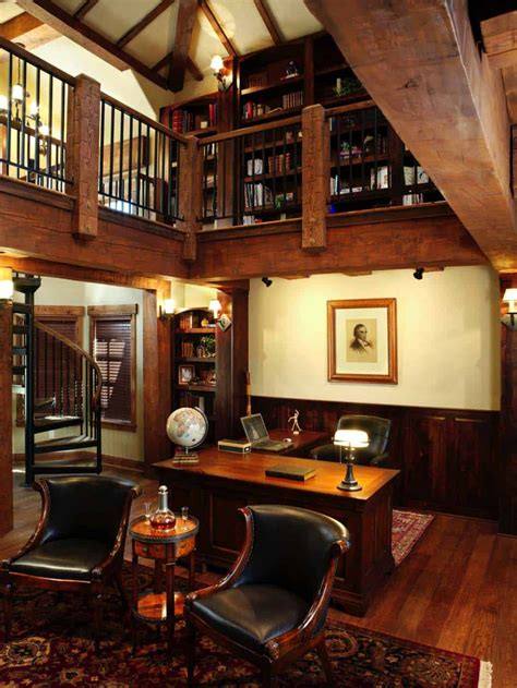 Houzify Home Design Ideas by 28 Dreamy Home Offices With Libraries For Creative Inspiration