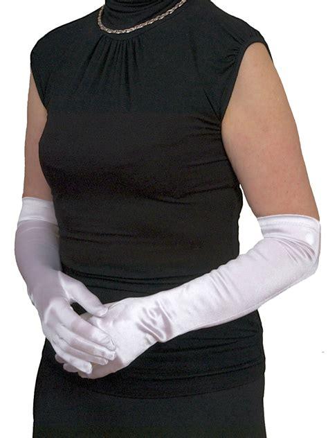 dents long satin gloves  elbow length  colours