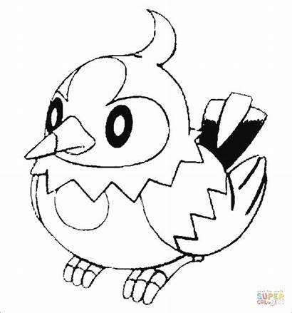 Coloring Pages Glaceon Empoleon Pokemon Sandshrew Starly