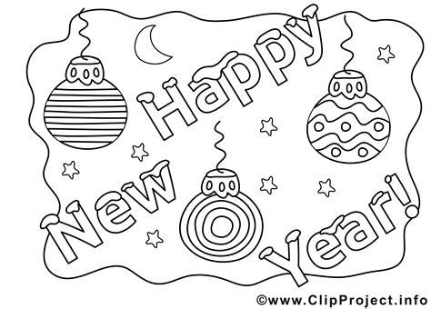 Gratis Ausmalbilder Neujahr