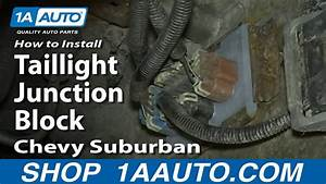 How To Install Replace Taillight Junction Block 2002
