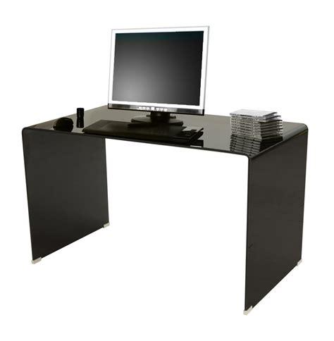 bureau verre noir bureau droit en verre noir stella lestendances fr