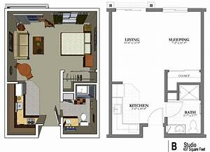 the studio apartment floor plans above is used allow the With modern studio apartment design layouts