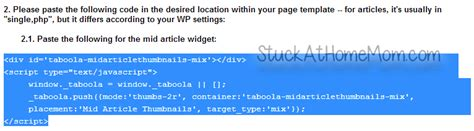 how to easily install your how to easily install taboola ad tracking code to your website stuckathomemom