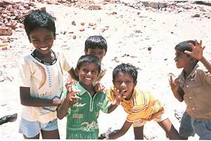 Indian Children Playing Outside