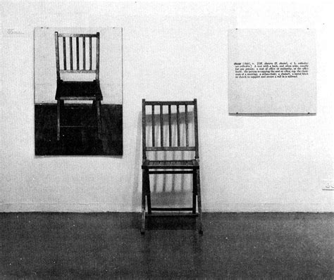 Joseph Kosuth One And Three Chairs by Joseph Kosuth Junglekey Fr Image