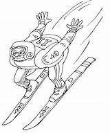 Coloring Pages Ski Winter Olympics Jump Jumper Science Printable Coloringpagesgreat олимпийские раскраски February Sketches Dari Disimpan sketch template