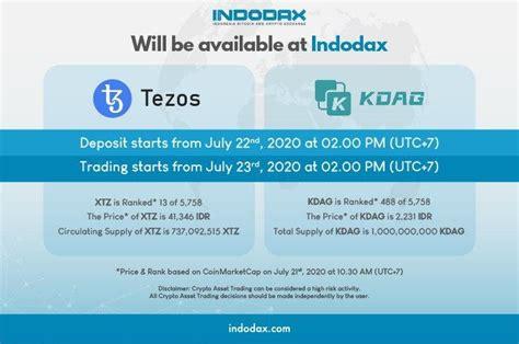 Buka indodax.com kemudian klik registrasi, isi data yang dibutuhkan. Tezos & King DAG Listing on Indodax - Blog Indodax.com