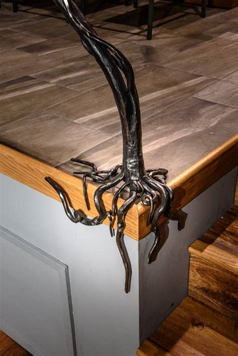 wood and iron bar bar table wood and forged iron bt71 bc blacksmith