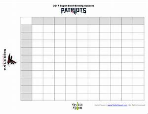 free printable 2017 super bowl betting squares stylish spoon With super bowl betting pool template