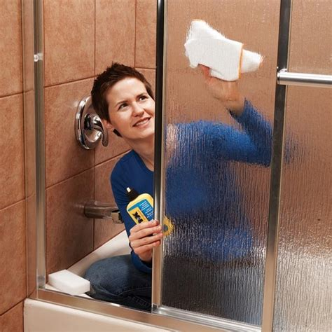 cleaning shower doors remove all stains how to remove water stains