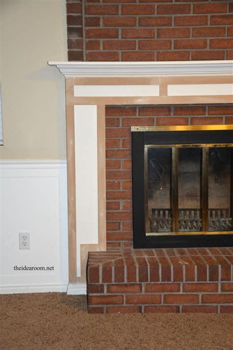 diy fireplace mantel diy fireplace mantel the idea room