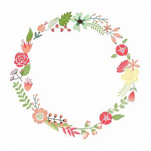 floral frame cute retro flowers arranged un a shape of With wedding invitations with flowers vintage frame