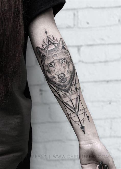 pin  daniel meyer tattoo  tattoos quarter sleeve tattoos tattoos geometric wolf tattoo