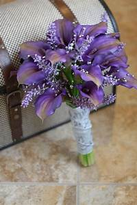 Reserved For Amber - Real Touch Purple Calla Lily Wedding ...