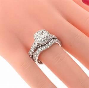 VIP Jewelry Art 3 28 CT Prong Set Princess Cut Diamond Encrusted Engagement Bridal Set